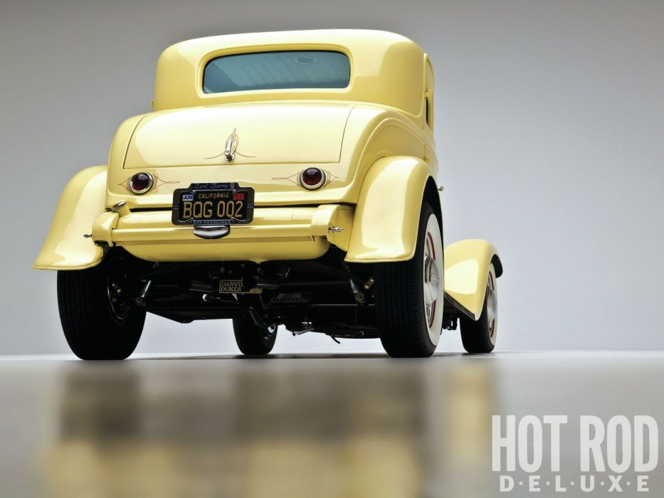 1932 Ford Coupe 3 Window Hotrod Hot Rod Old School USA 1600x1200-09 wallpaper