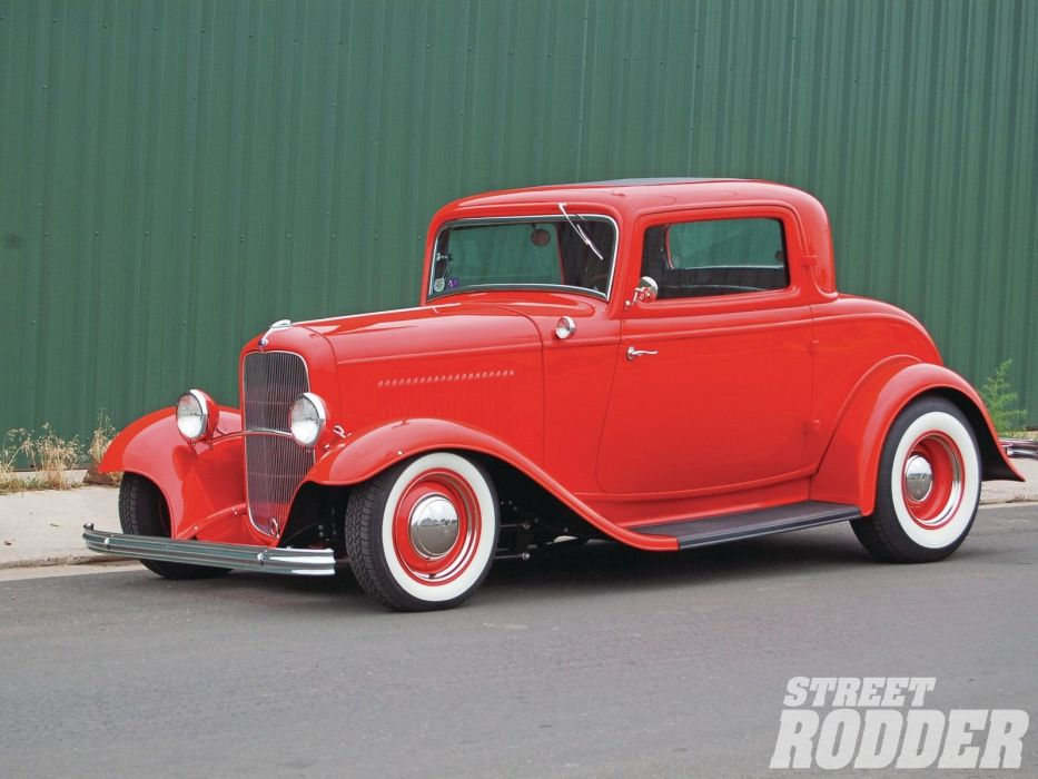 1932 Ford Coupe 3 Window Hotrod Hot Rod Old School USA 1600x1200-13 wallpaper