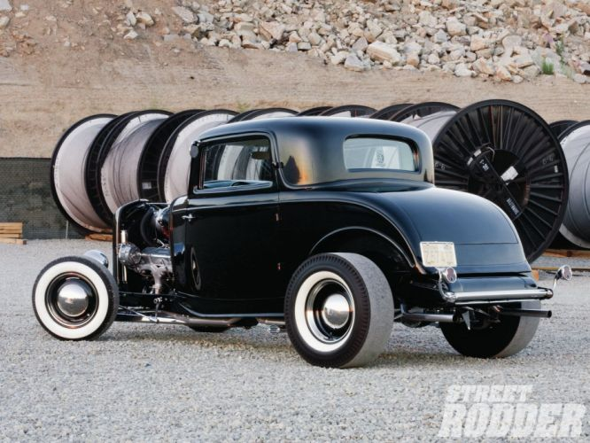 1932 Ford Coupe 3 Window Hotrod Hot Rod Old School USA 1600x1200-16 wallpaper