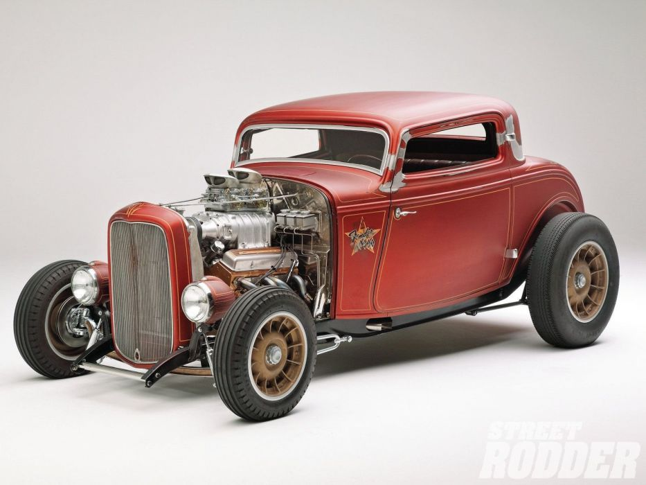 1932 Ford Coupe 3 Window Hotrod Hot Rod Old School USA 1600x1200-17 ...