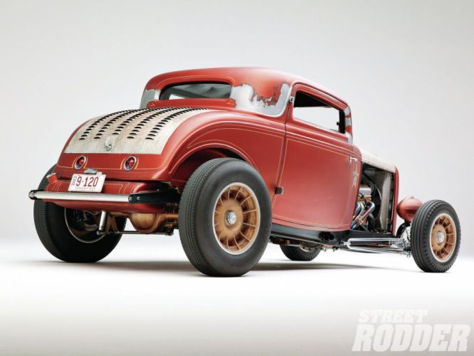 1932 Ford Coupe 3 Window Hotrod Hot Rod Old School USA 1600x1200-18 wallpaper