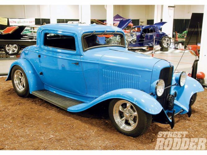 1932 Ford Coupe 3 Window Hotrod Hot Rod Streetrod Street USA 1600x1200-01 wallpaper