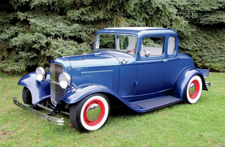 1932 Ford Coupe 3 Window Hotrod Hot Rod Old School USA 2048x1340-23 wallpaper