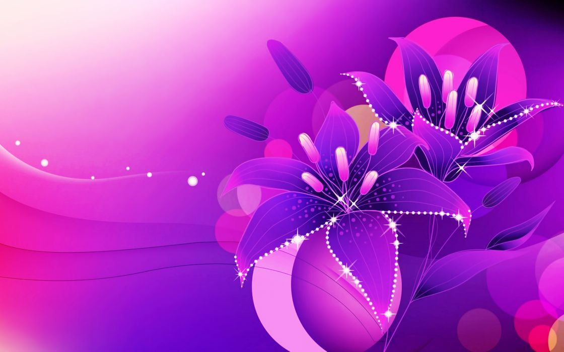Purple Roses Background Images: Abstract Art Background Colorful Colors Flowers; Glowing