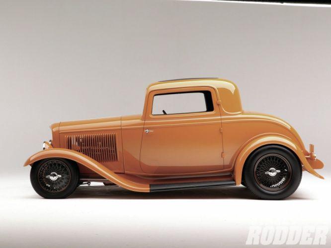 1932 Ford Coupe 3 Window Hotrod Hot Rod Streetrod Street USA 1600x1200-06 wallpaper