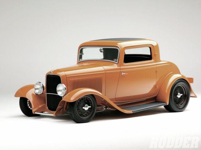 1932 Ford Coupe 3 Window Hotrod Hot Rod Streetrod Street USA 1600x1200-07 wallpaper