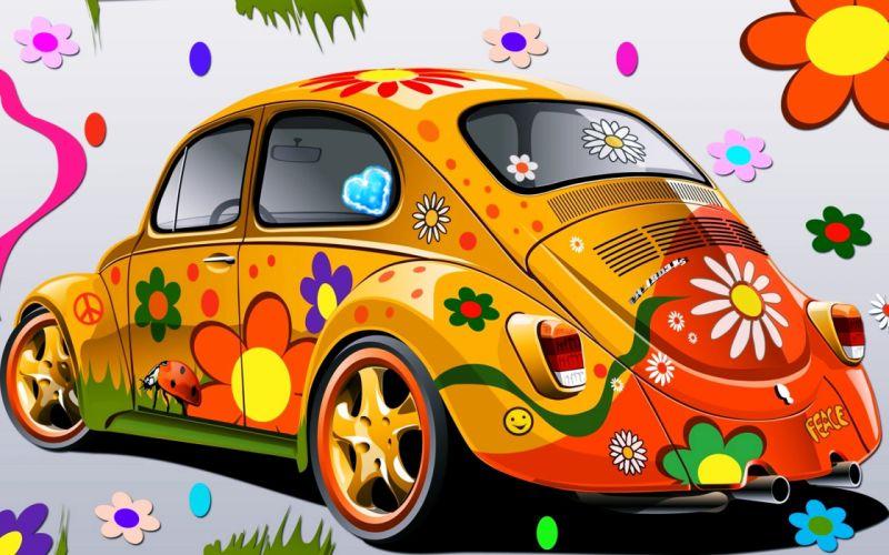 cars children coloring colors drawing Flowers kids wallpaper