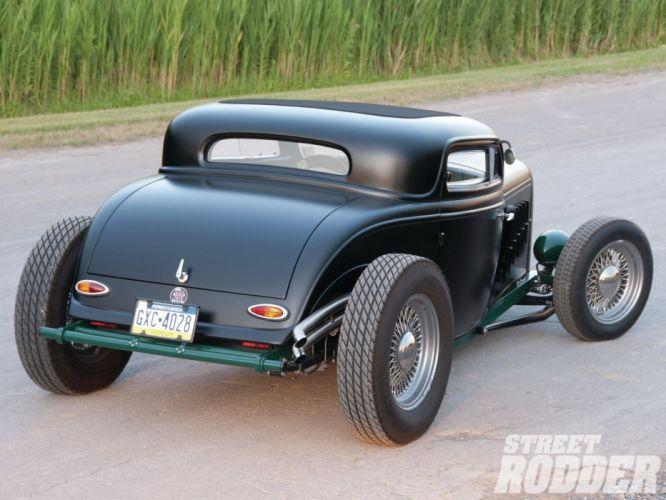 1932 Ford Coupe 3 Window Hotrod Hot Rod Streetrod Street USA 1600x1200-11 wallpaper