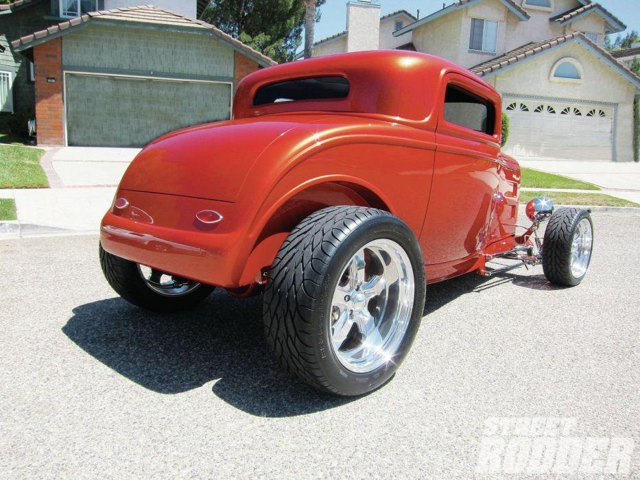 1932 Ford Coupe 3 Window Hotrod Hot Rod Streetrod Street USA 1600x1200-27 wallpaper