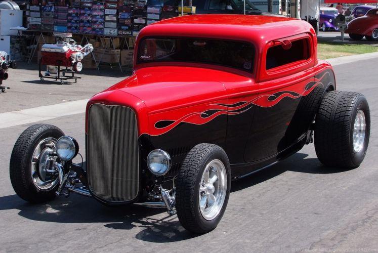 1932 Ford Coupe 3 Window Hotrod Hot Rod Streetrod Street USA 1920x1285-05 wallpaper