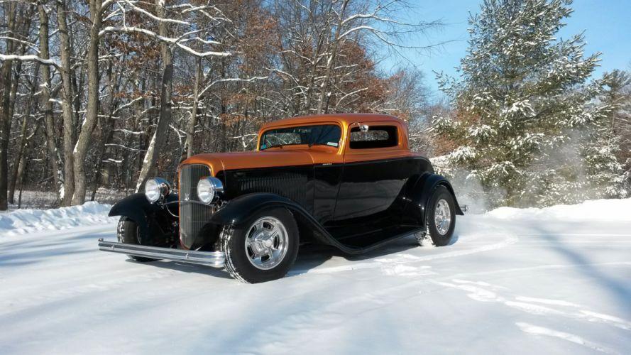 1932 Ford Coupe 3 Window Hotrod Hot Rod Streetrod Street USA 2560x1920-04 wallpaper