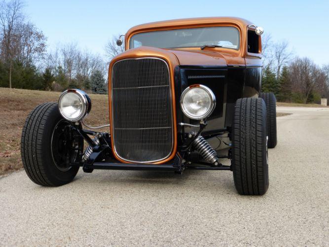 1932 Ford Coupe 3 Window Hotrod Hot Rod Streetrod Street USA 2560x1920-10 wallpaper