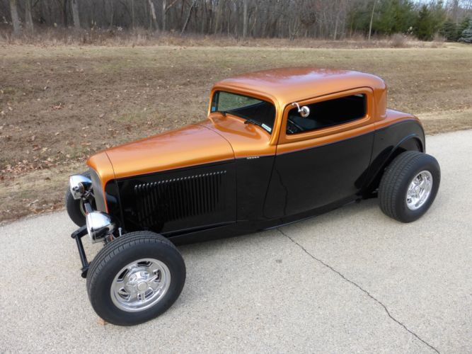 1932 Ford Coupe 3 Window Hotrod Hot Rod Streetrod Street USA 2560x1920-09 wallpaper