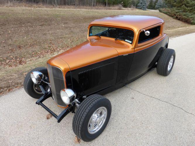 1932 Ford Coupe 3 Window Hotrod Hot Rod Streetrod Street USA 2560x1920-13 wallpaper