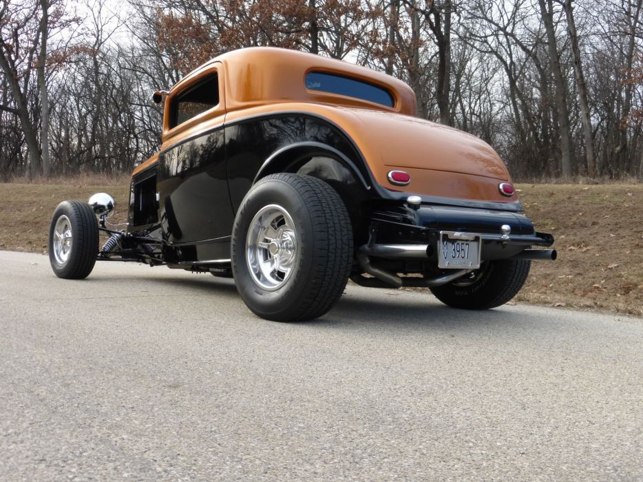 1932 Ford Coupe 3 Window Hotrod Hot Rod Streetrod Street USA 2560x1920-14 wallpaper