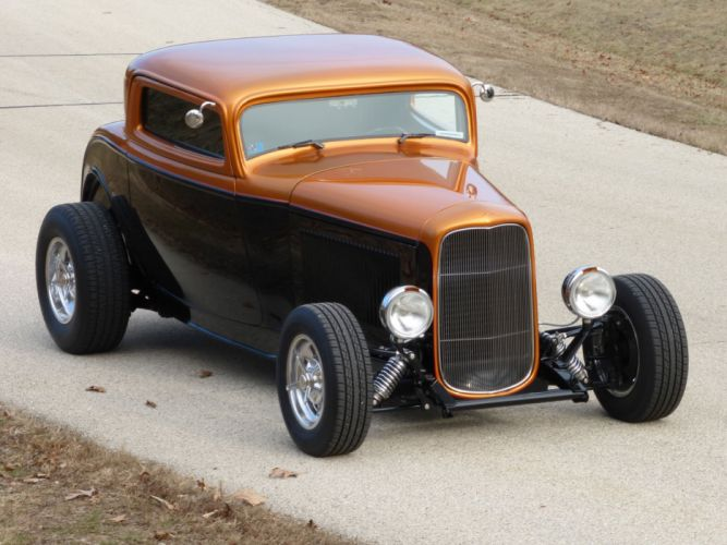 1932 Ford Coupe 3 Window Hotrod Hot Rod Streetrod Street USA 2560x1920-16 wallpaper