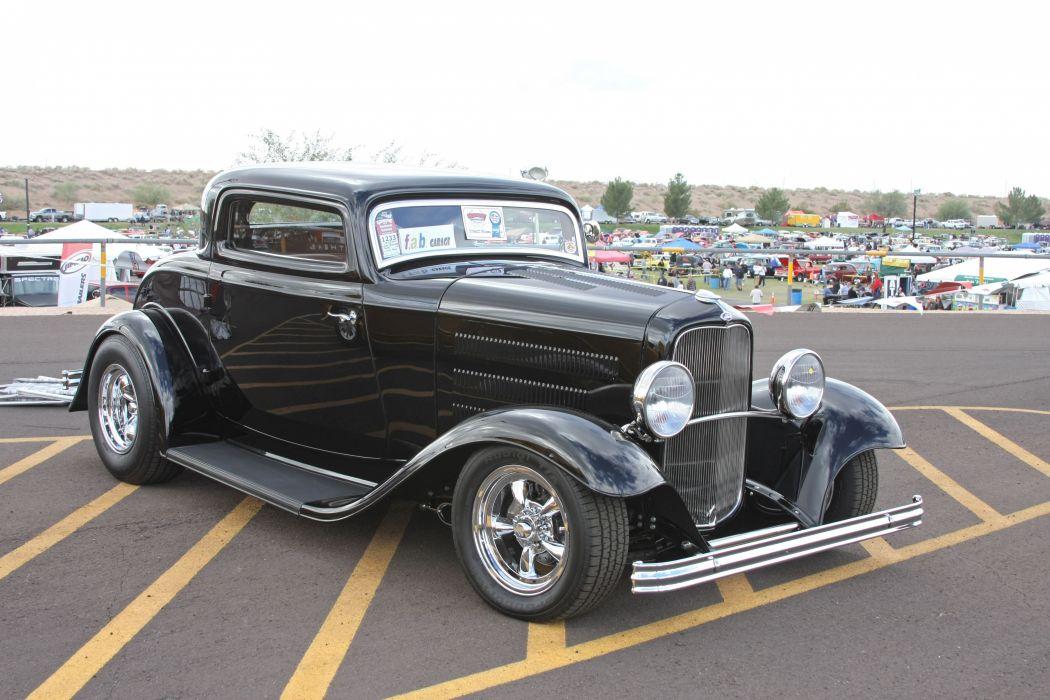 1932 Ford Coupe 3 Window Hotrod Hot Rod Streetrod Street USA 3888x2590-09 wallpaper