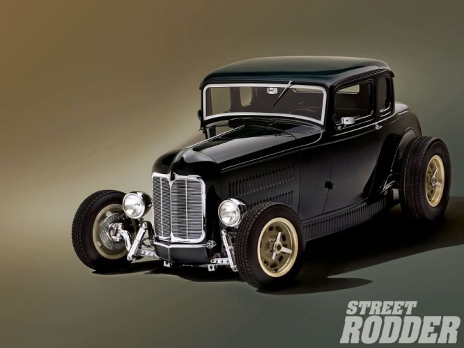 1932 Ford Coupe 5 Window Hotrod Hot Rod Old School USA 1600x1200-25 wallpaper