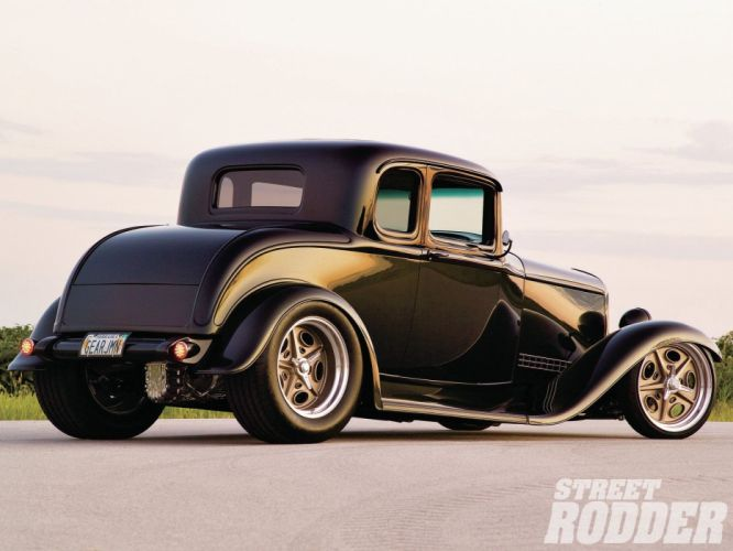 1932 Ford Coupe 5 Window Hotrod Hot Rod Streetrod Street USA 1600x1200-13 wallpaper