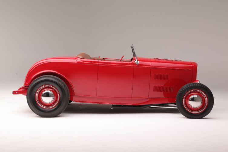 1932 Ford highboy Roadster Hotrod Hot Rod Custom Old School USA 5616x3730-04 wallpaper