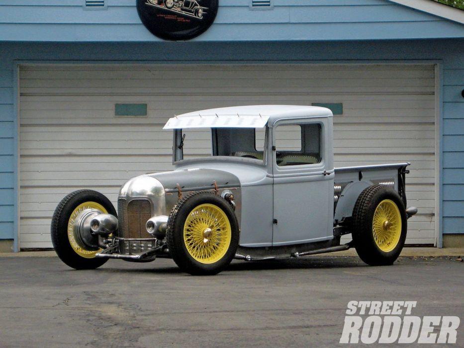 1932 Ford Pickup Hotrod Hot Rod Custom Old school USA 1600x1200-05 wallpaper