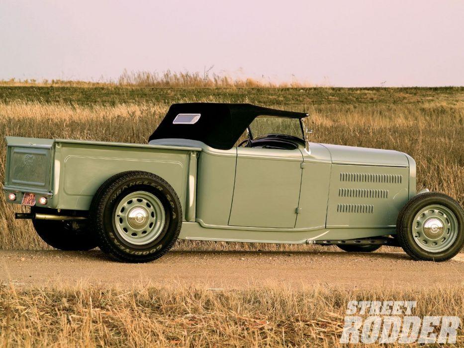 1932 Ford Pickup Roadster Hotrod Hot Rod Custom Old school USA 1600x1200-04 wallpaper
