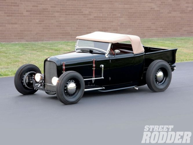 1932 Ford Pickup Roadster Hotrod Hot Rod Custom Old school USA 1600x1200-05 wallpaper