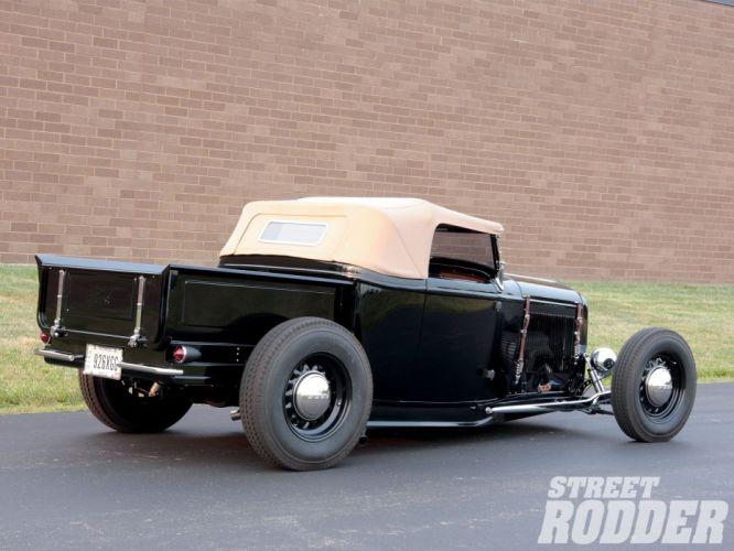 1932 Ford Pickup Roadster Hotrod Hot Rod Custom Old school USA 1600x1200-06 wallpaper
