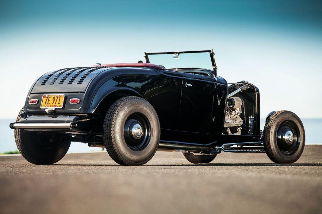 1932 Ford Roadster Hotrod Hot Rod Custom Old school USA 1500x1000-28 wallpaper