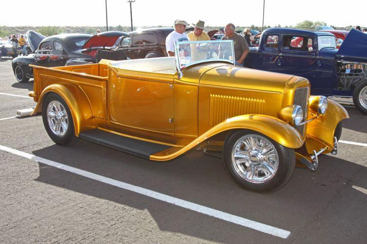 1932 Ford Pickup Roadster Hotrod Hot Rod Streetrod Street USA 3888x2590-03 wallpaper