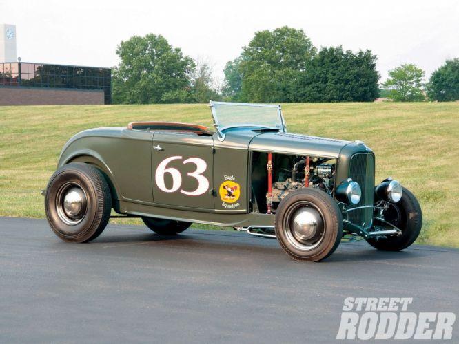 1932 Ford Roadster Hotrod Hot Rod Custom Old school USA 1600x1200-09 wallpaper