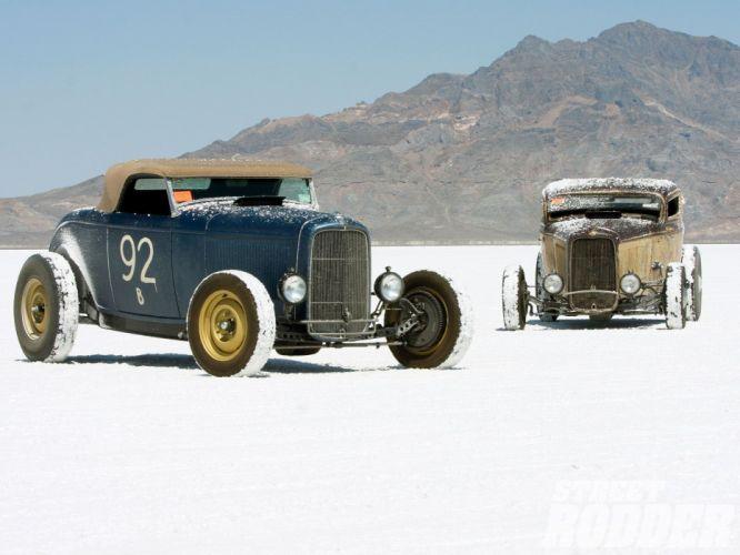 1932 Ford Roadster Hotrod Hot Rod Custom Old school USA 1600x1200-14 wallpaper
