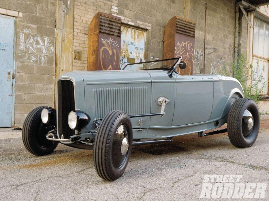 1932 Ford Roadster Hotrod Hot Rod Custom Old school USA 1600x1200-15 ...