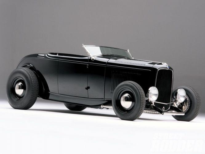 1932 Ford Roadster Hotrod Hot Rod Custom Old school USA 1600x1200-17 wallpaper