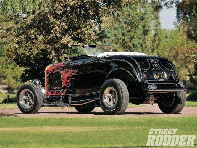 1932 Ford Roadster Hotrod Hot Rod Custom Old school USA 1600x1200-32 wallpaper