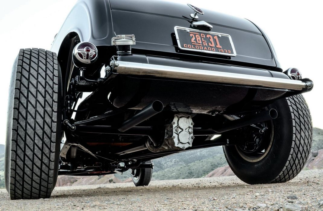 1932 Ford Roadster Hotrod Streetrod Hot Rod Street Black USA 2048x1340-03 wallpaper