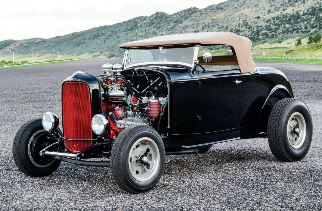 1932 Ford Roadster Hotrod Streetrod Hot Rod Street Black USA 2048x1340-01 wallpaper