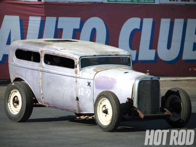1932 Ford Tudor Sedan 2 Door Hotrod Hot Rod Old School USA 1600x1200-15 wallpaper