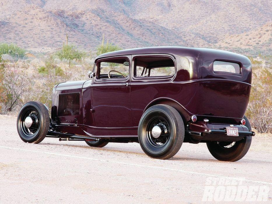 1932 Ford Tudor Sedan 2 Door Hotrod Hot Rod Old School USA ...