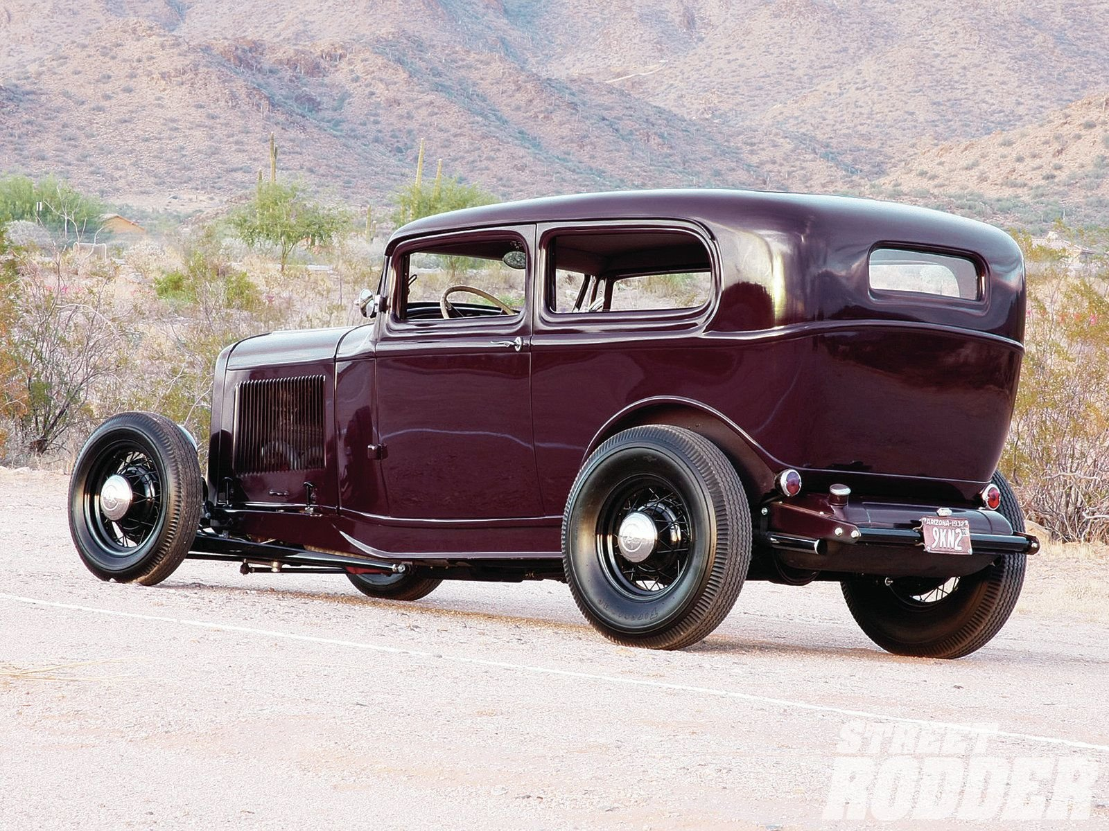 1932 Ford Tudor Sedan 2 Door Hotrod Hot Rod Old School USA 1600x1200 ...