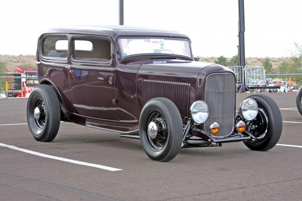 1932 Ford Tudor Sedan 2 Door Hotrod Hot Rod Old School USA 3888x2592-16 wallpaper