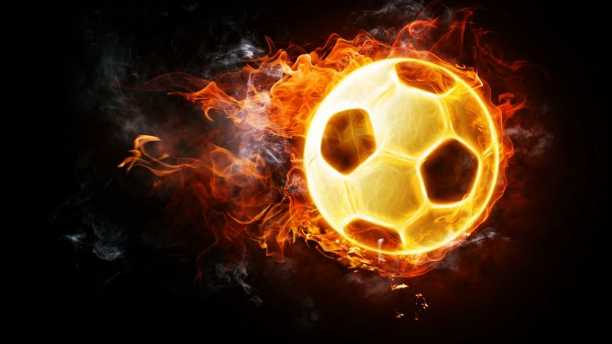 Abstract art background Fires football Inflamed Orange smoke wallpapers sports wallpaper