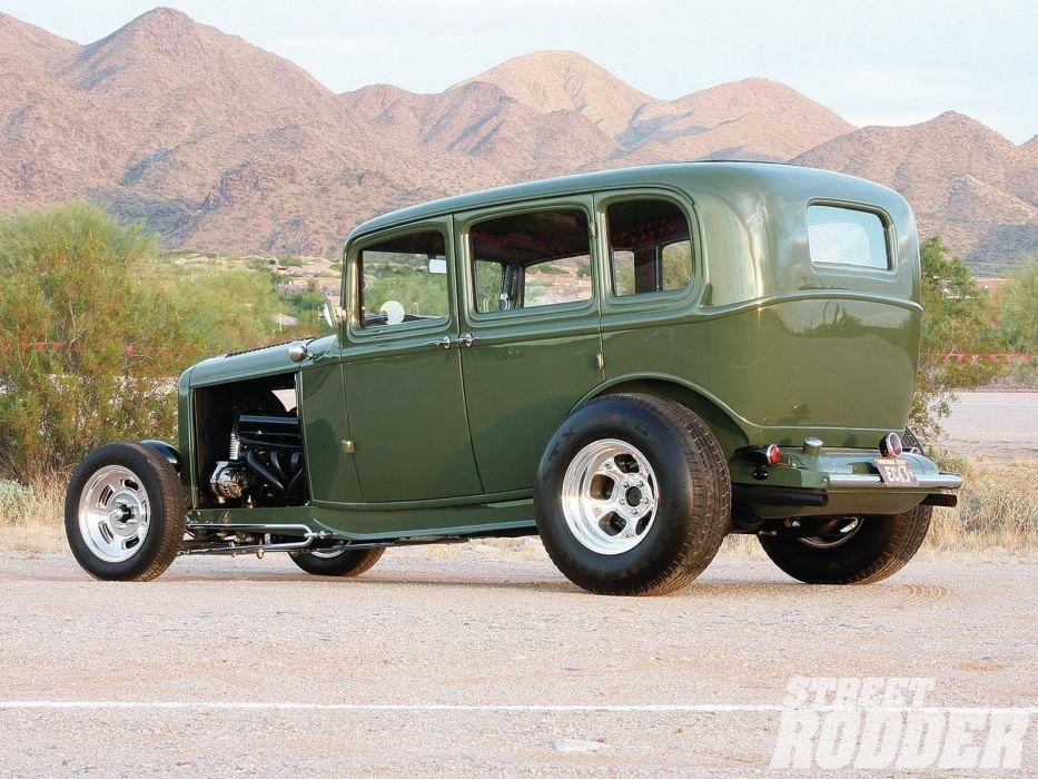 1932 Ford Tudor Sedan 4 Door Hotrod Hot Rod Streetrod Street USA 1600x1200-10 wallpaper