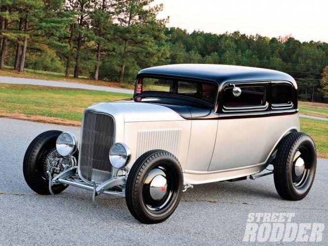 1932 Ford Victoria Vicky Sedan 2 Door Hotrod Hot Rod Old School USA 1600x1200-01 wallpaper