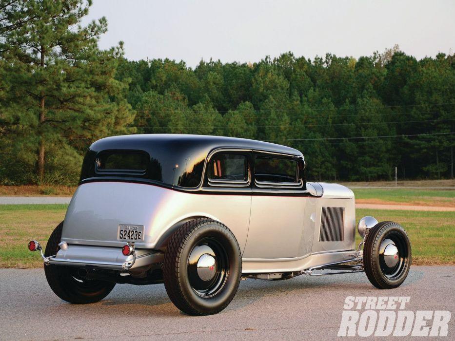 1932 Ford Victoria Vicky Sedan 2 Door Hotrod Hot Rod Old School USA 1600x1200-03 wallpaper