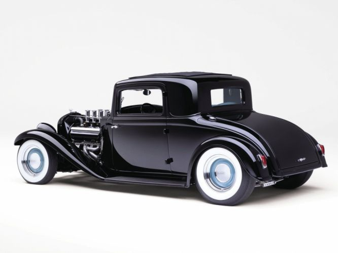 1932 Plymouth Coupe Hotrod Hot Rod Custom Old school USA 1600x1200-02 wallpaper