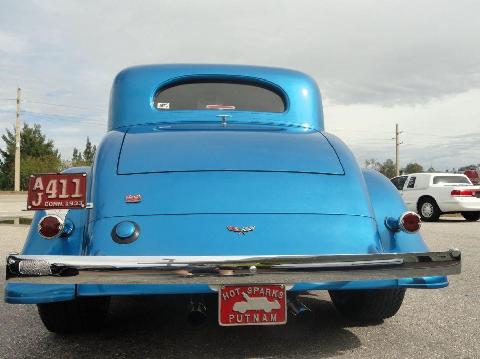 1933 Chevrolet Chevy Coupe Hotrod Streetrod Hot Rod Street Blue USA 2592x1944-07 wallpaper