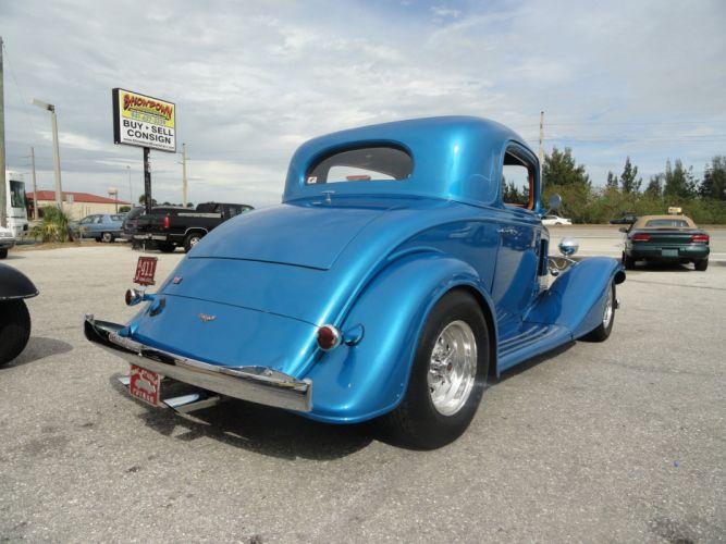 1933 Chevrolet Chevy Coupe Hotrod Streetrod Hot Rod Street Blue USA 2592x1944-09 wallpaper