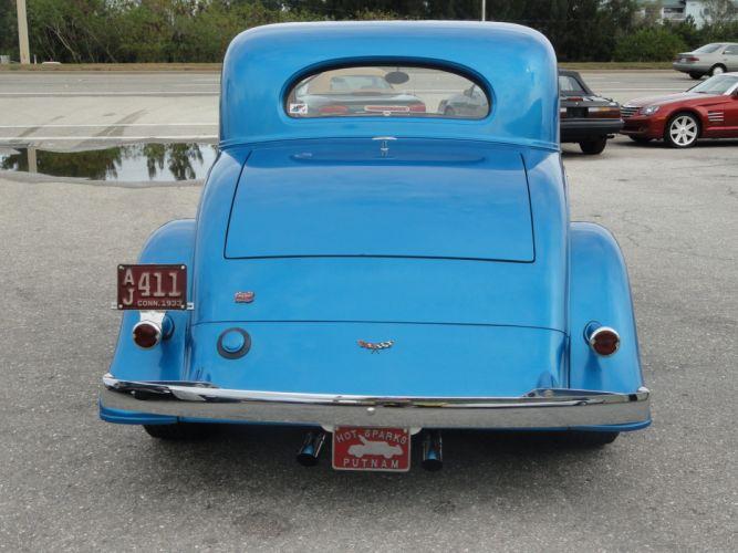 1933 Chevrolet Chevy Coupe Hotrod Streetrod Hot Rod Street Blue USA 2592x1944-10 wallpaper