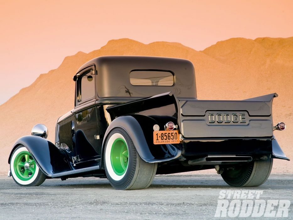 1933 Dodge Pickup Hotrod Hot Rod Old School Black USA 1600x1200-02 wallpaper